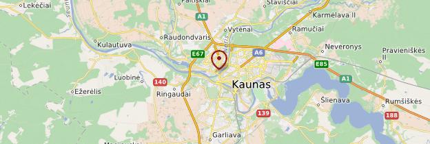 Carte Kaunas - Lituanie