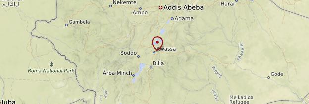 Carte Vallée du Rift - Éthiopie