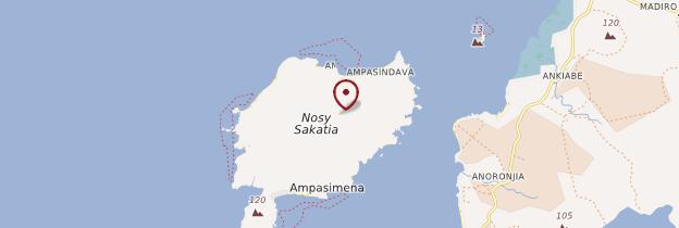 Carte Île de Nosy Sakatia - Madagascar