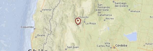 Carte Parc provincial Ischigualasto (vallée de la Lune) - Argentine