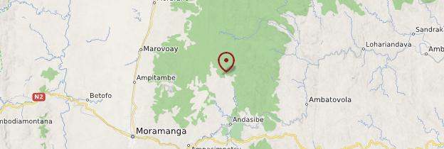 Carte Parc national Andasibe-Mantadia (ex-Périnet) - Madagascar