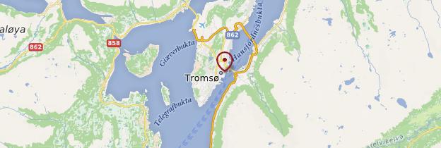 Carte Tromsø - Norvège
