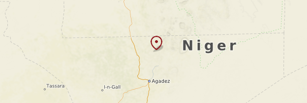 Carte Réserve naturelle de l'Aïr - Niger