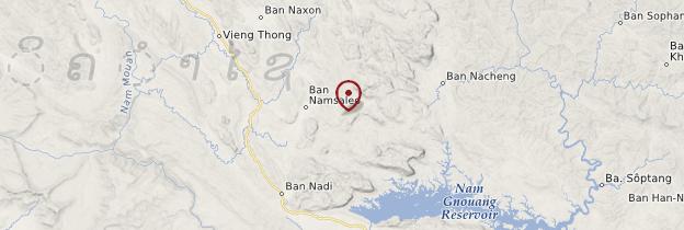 Carte Muang Ngoi - Laos
