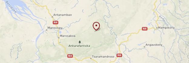 Carte Parc national d'Ankarafantsika - Madagascar