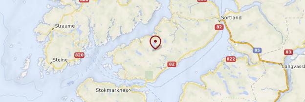 Carte Île de Langøya - Norvège