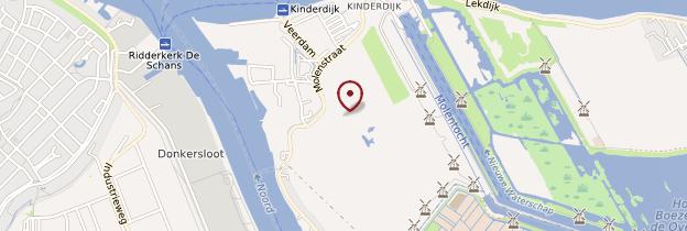 Carte Kinderdijk - Pays-Bas