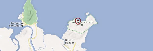 Carte Bako National Park - Bornéo