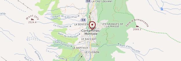Carte Val Montjoie - Alpes