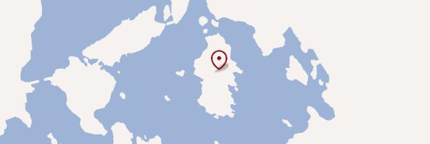 Carte Île de Seurasaari - Finlande