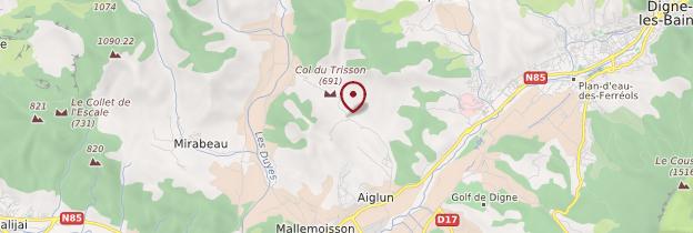 Carte Aiglun - Provence
