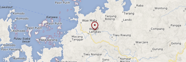 Carte Labuan Bajo - Indonésie