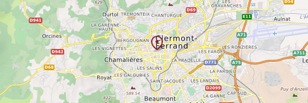 Carte Clermont-Ferrand - Auvergne