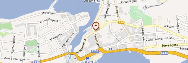 Carte Ålesund - Norvège