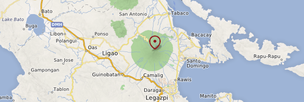 Carte Volcan Mayon - Philippines