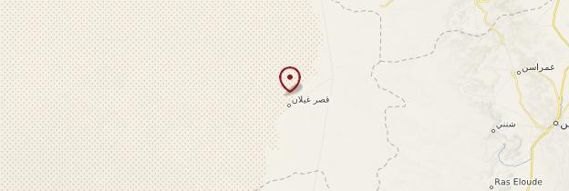 Carte Ksar-Ghilane - Tunisie