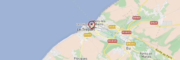 Carte Le Tréport - Normandie