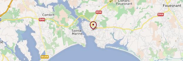 Carte Bénodet (Benoded) - Bretagne