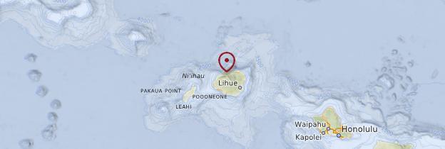 Carte Côte Na Pali - Hawaii