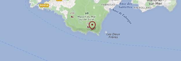 Carte Cap Sicié - Côte d'Azur