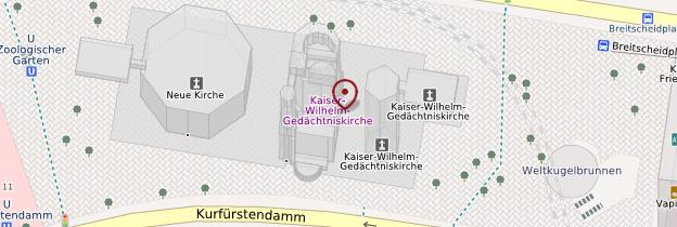 Carte Église du Souvenir (Kaiser-Wilhelm-Gedächtniskirche) - Berlin