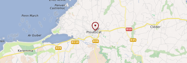Carte Plouescat (Ploueskad) - Bretagne