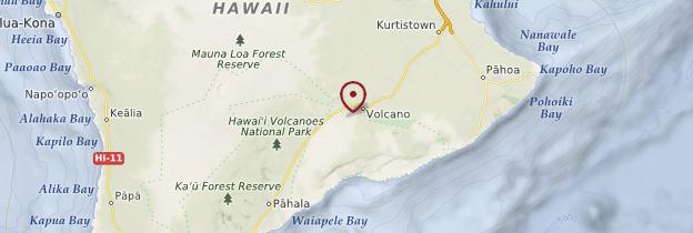 Carte Volcan Kilauea - Hawaii
