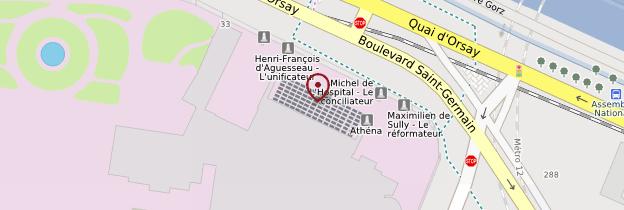Carte Assemblée nationale - Paris