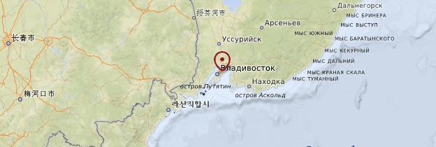 Carte Vladivostok - Russie