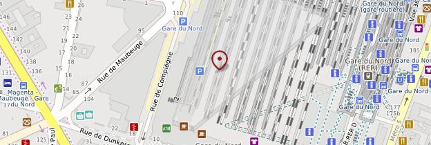 Carte Gare du Nord - Paris