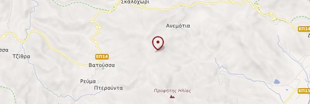 Carte Île de Lesbos - Îles grecques