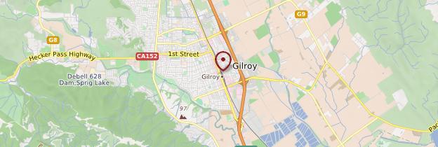 Carte Gilroy - Californie