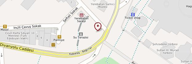 Carte Citerne-basilique (Yerebatan Sarayı ou Yerebatan Sarnıcı)  - Istanbul