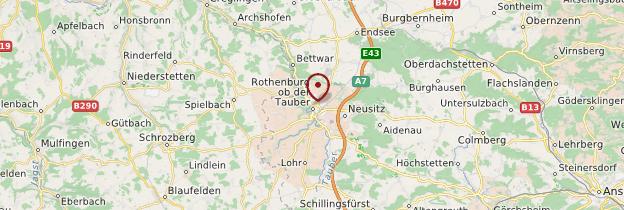 Carte Rothenburg ob der Tauber - Allemagne
