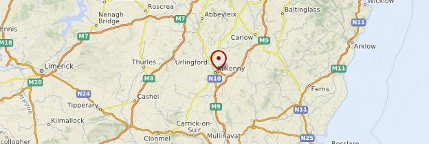 Carte Kilkenny - Irlande