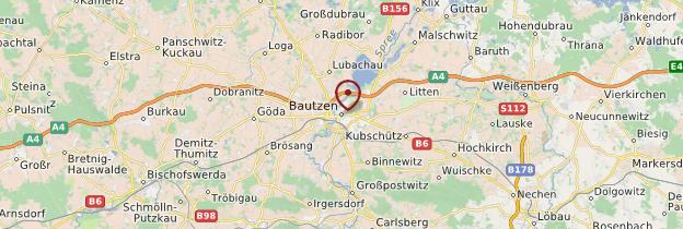 Carte Bautzen - Allemagne