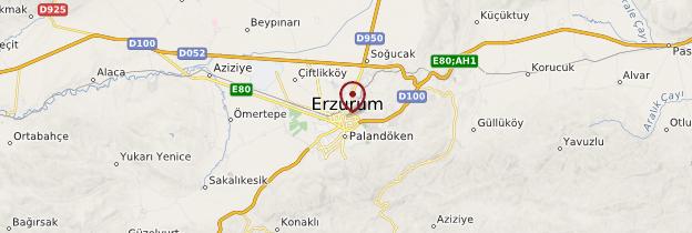 Carte Erzurum - Turquie