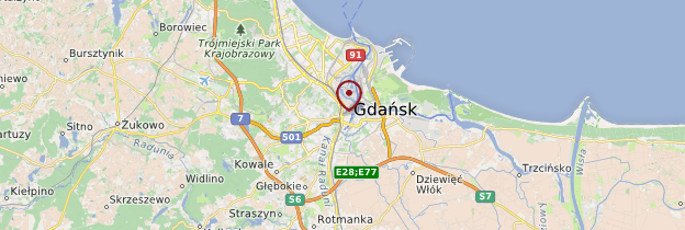 Carte Gdańsk - Pologne