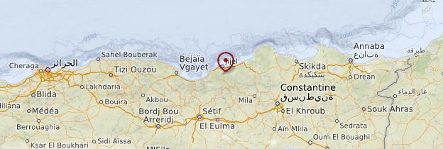 Carte Kabylie - Algérie