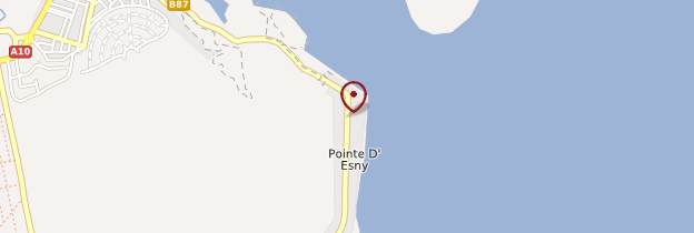 Carte Pointe d'Esny - Île Maurice, Rodrigues