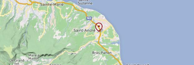 Carte Saint-André - Réunion