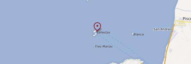 Carte Îles Ballestas - Pérou