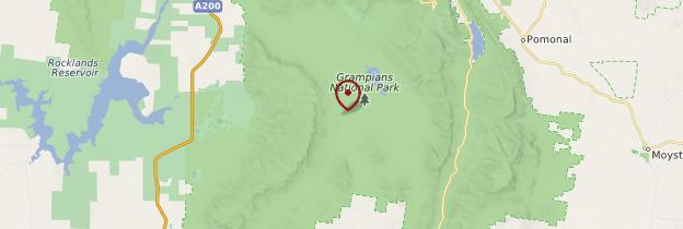 Carte Grampians National Park - Australie