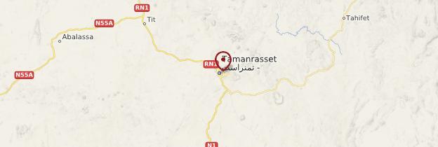 Carte Tamanrasset - Algérie