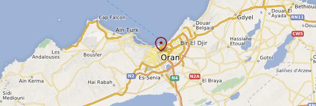 Carte Oran - Algérie