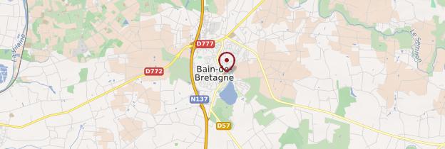 Carte Bain-de-Bretagne - Bretagne