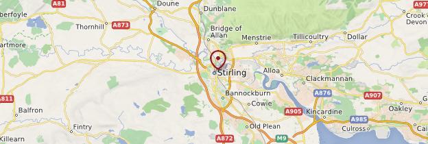 Carte Stirling - Écosse