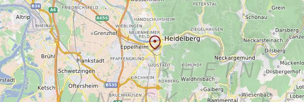 Carte Heidelberg - Allemagne