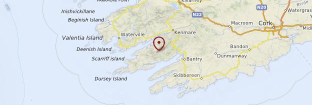 Carte Presqu'île de Beara - Irlande