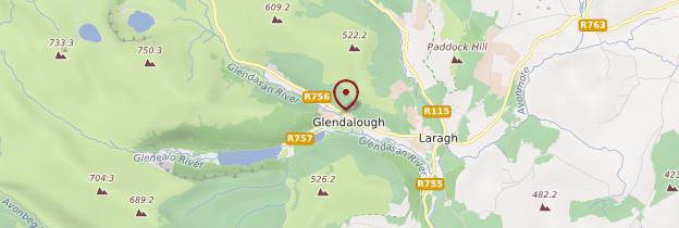 Carte Glendalough - Irlande